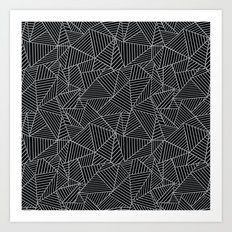Ab 2 R Black and Grey Art Print