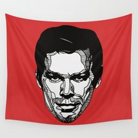 dexter Wall Tapestries featuring Dexter by Dylan Morang