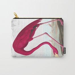 Flamingo Vintage Scientific Bird Illustration Carry-All Pouch