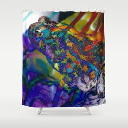 Fire Toad Shower Curtain