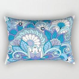 blue zen composition with lotus 1 Rectangular Pillow