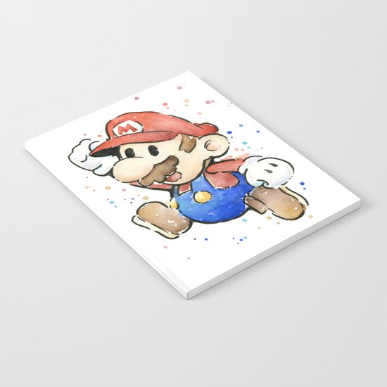Mario Watercolor Notebook