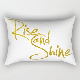 Rise And Shine Glitter Gold Rectangular Pillow