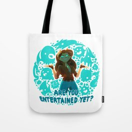 Are you entertained yet? || ScribbleNetty (Colored) Tote Bag