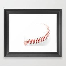 Baseball stitch Framed Art Print