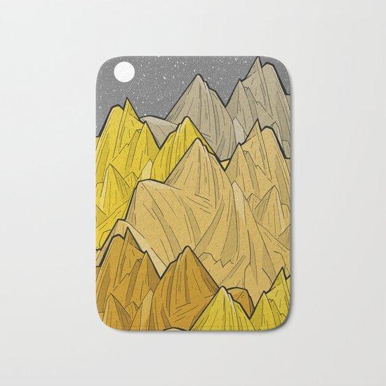 The Golden Mountains Bath Mat