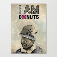 j dilla Canvas Prints featuring J DILLA by Delano Limoen
