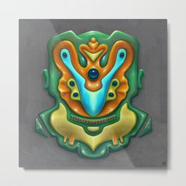 Summer Totem Green Metal Print