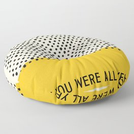 All Yellow Floor Pillow