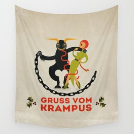 Gruss vom Krampus II Wall Tapestry