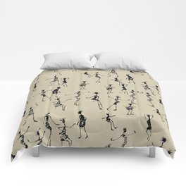 stick people in action Comforters