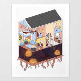 My Childhood Home Art Print