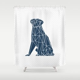 Faceted Dog - Labrador Shower Curtain