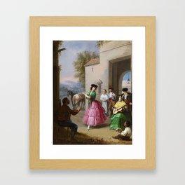 Manuel Cabral Aguado Bejarano 1827 - 1891, Cheering at the Gates of the Farm Framed Art Print