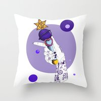 saturn Throw Pillows featuring Saturn by scoobtoobins