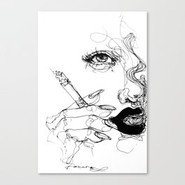 Smoke Canvas Print