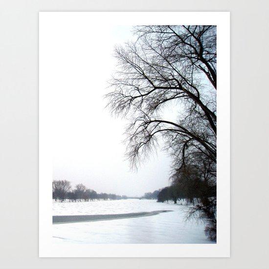 frozen lake. Art Print