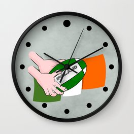 Rugby Ireland Flag Wall Clock