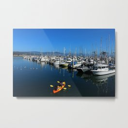 Pillar Piont Harbor at Half Moon Bay Metal Print