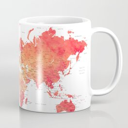 Travel is the only thing you buy that makes you richer world map Coffee Mug