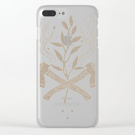 Vintage nature axe ge Clear iPhone Case
