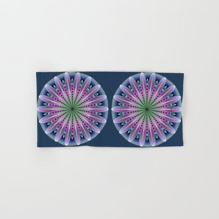 Artistic fantasy flower mandala Hand & Bath Towel