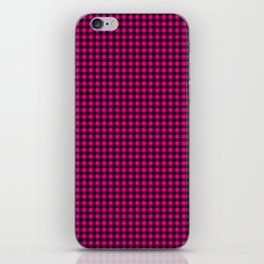 Mini Black and Hot Pink Cowgirl Buffalo Check iPhone Skin