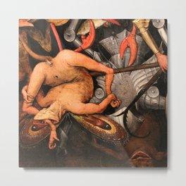 The Fall of the Rebel Angels, Detail_Pieter Bruegel the Elder Flemish painter (1526–1569) Metal Print