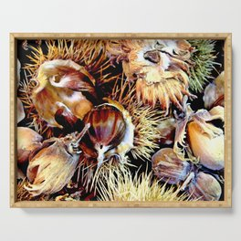 Hazel Nuts and Cob Nuts Serving Tray