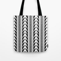 moroccan Tote Bags featuring Moroccan Stripes by Caitlin Workman
