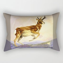 Pronghorn in the Morning Rectangular Pillow