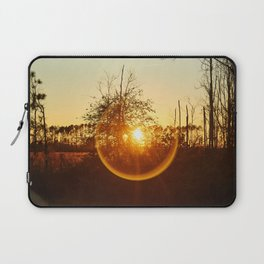 Low Sunset Behind The Trees. Laptop Sleeve