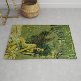 Vintage Parisian Green Fairy Absinthe Alcoholic Aperitif Advertisement Poster Rug
