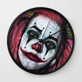 Portrait - Clown Girl Wall Clock