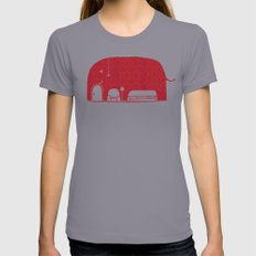 Elephanticus Roomious Womens Fitted Tee X-LARGE Slate