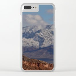 Desert Snow on Christmas - II Clear iPhone Case