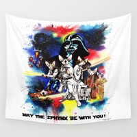 starwars Wall Tapestries featuring StarWars Sphynx by Psyca