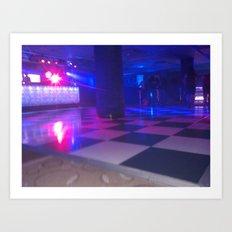 Dance floor chessboard Art Print