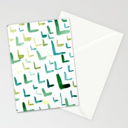 Painted L Stationery Cards