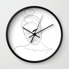 Lined Look Wall Clock