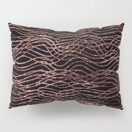 sparkling rose waves Pillow Sham