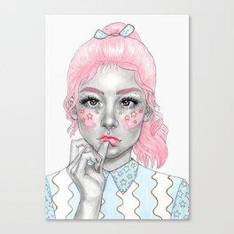 Pastel girl Canvas Print