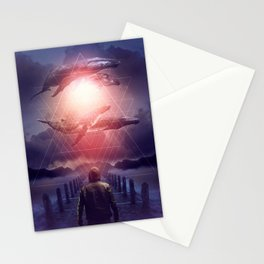 The Space Between Dreams & Reality Stationery Cards