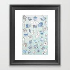 Azul Framed Art Print