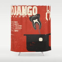 Django Unchained, Quentin Tarantino, alternative movie poster, Leonardo DiCaprio, Jamie Foxx Shower Curtain