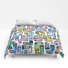 Colorful socks pattern Comforters