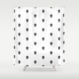 Trilobite Pattern Shower Curtain