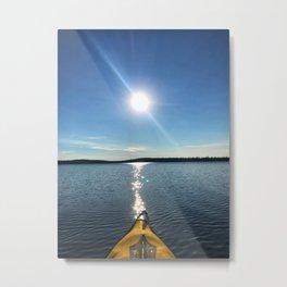 Solitude - Cree Lake, Saskatchewan Metal Print