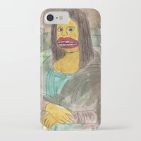 mona lisa iPhone & iPod Cases featuring Mona Lisa by GOONS