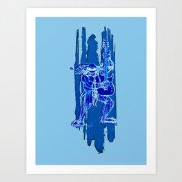 TMNT Rock: Leo Art Print